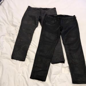 Coated Jeans (2) black and gray